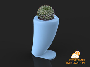 Dinosaurs tooth flowerpot in Gloss Celadon Green Porcelain