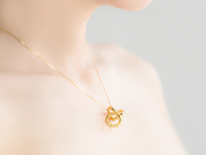 DRAGON Solid Pendant in 18k Gold Plated Brass