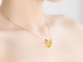 sWINGS S, Pendant in 18k Gold Plated Brass