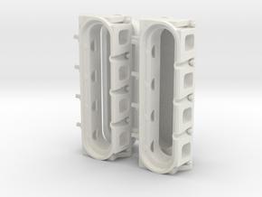 LS3 Head W Emblems 1/12 in White Natural Versatile Plastic
