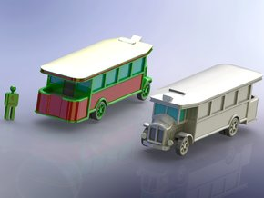French Renault TN-4C Bus 1/285 in Smooth Fine Detail Plastic