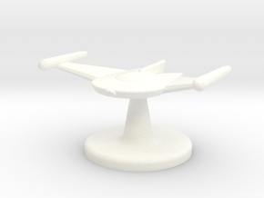 Game piece Romulan Bird-of-Prey in White Strong & Flexible Polished