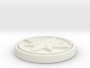 Captain Marvel Buckle in White Natural Versatile Plastic