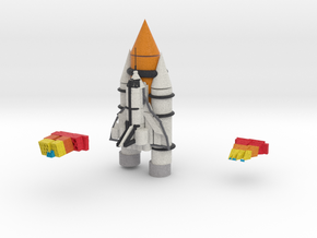 Space Shuttle in Full Color Sandstone