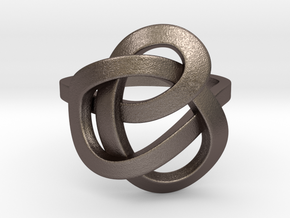 Infinity Love Ring (From $13) in Polished Bronzed Silver Steel: 7 / 54