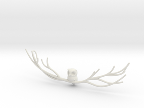 Owl pendant in White Natural Versatile Plastic