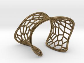 Voronoi Cuff Bracelet in Polished Bronze