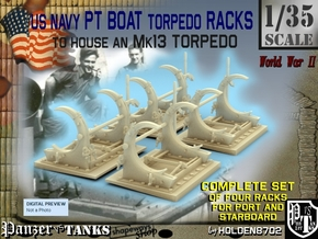 1-35 PT Torpedo Rack TypC Set1 in Frosted Ultra Detail