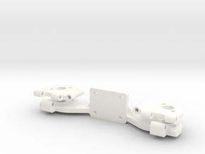 PHANTOM 2 - LEG HINGE PART 2 in White Strong & Flexible Polished