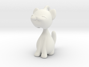Articulated kitten  in White Natural Versatile Plastic