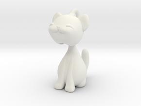 Articulated kitten  in White Natural Versatile Plastic