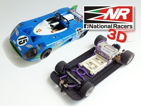 3D chassis for SRC Matra 670 (SW) in Black Natural Versatile Plastic