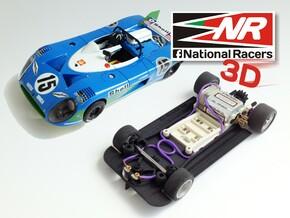 3D chassis for SRC Matra 670 (SW) in Black Natural Versatile Plastic