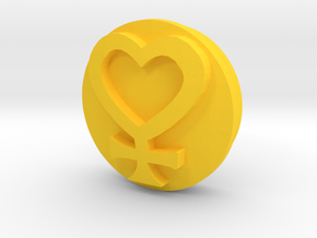 Sailor Moon Transformation Pen-Venus-Sigil-1/3 in Yellow Processed Versatile Plastic