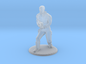 Soldier Crouching With P90- 20 mm in Smooth Fine Detail Plastic