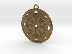 Vegvisir Earring in Natural Bronze