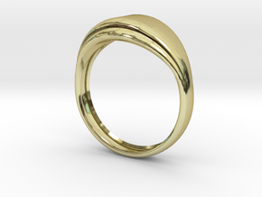 Sencillo in 18k Gold Plated Brass