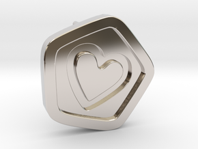 3D Printed Bond What You Love Stud Earrings in Rhodium Plated Brass