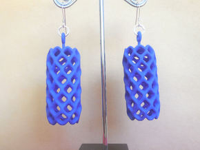 Pineapple - A pair of earrings in Blue Strong & Flexible Polished