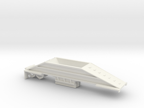 000402 BottomDump Trailer HO in White Natural Versatile Plastic: 1:87 - HO