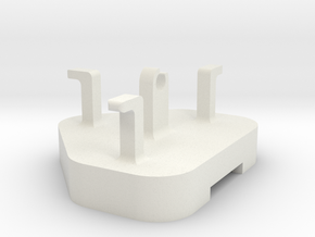 Charger Holder for iPhone in White Natural Versatile Plastic