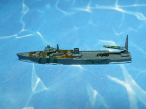 IJN Akitsushima Seaplane Tender 1/2400 in Smooth Fine Detail Plastic