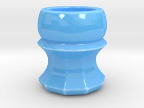 Shaving Brush Handle: Scallop in Gloss Blue Porcelain