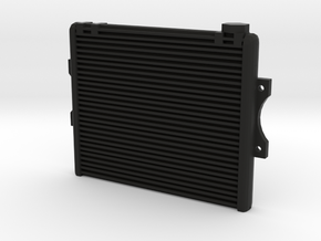 1/10 scale aluminum racing radiator in Black Natural Versatile Plastic