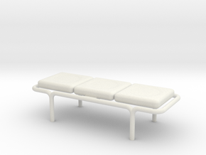 MOF Bench - 3 Cushion - 72:1 Scale in White Natural Versatile Plastic