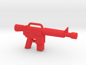 Minifigure M4 Carbine in Red Processed Versatile Plastic