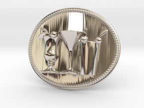 Cocktail Party Belt Buckle in Platinum