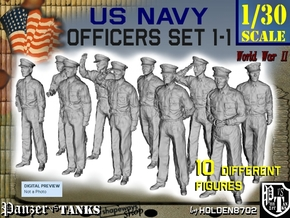 1-30 USN Officers Set1-1 in White Natural Versatile Plastic