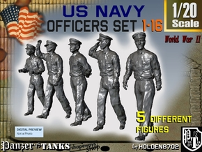 1-20 USN Officers Set1-16 in White Natural Versatile Plastic