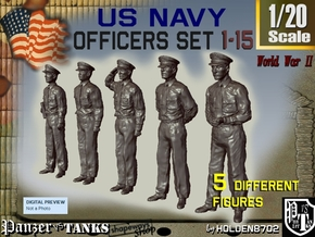 1-20 USN Officers Set1-15 in White Strong & Flexible