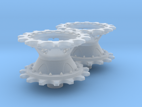 Merkava Mk.2D sprockets in Smooth Fine Detail Plastic