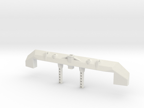 Nukizer Scx10 Bumper in White Strong & Flexible