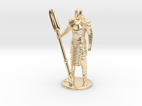 Jaffa Standing Guard -20 mm in 14k Gold Plated Brass