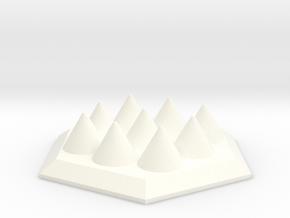Spike Trap Hex in White Processed Versatile Plastic
