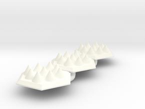 Spike Trap Hex X3 Batch in White Processed Versatile Plastic