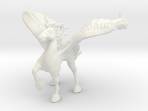 Protection Alicorn in White Natural Versatile Plastic