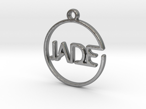 JADE First Name Pendant in Natural Silver