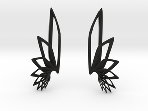 Flyaway Earrings in Black Natural Versatile Plastic