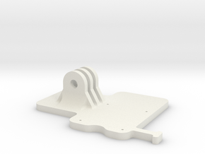 Raspberry pi camera mount (Base) in White Natural Versatile Plastic