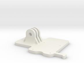 Raspberry pi camera mount (Base) in White Natural Versatile Plastic