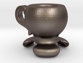 150 ml coffee cup in Polished Bronzed Silver Steel