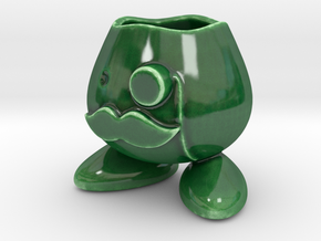 Monocle Planter Guy in Gloss Oribe Green Porcelain