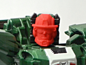 Graduate Heatwave Faceplate (Titans Return) in Red Processed Versatile Plastic