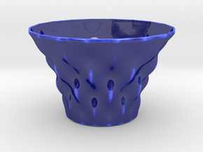 Chiney bowl. in Gloss Cobalt Blue Porcelain