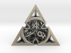 Gothic Rosette Die4 in Natural Silver