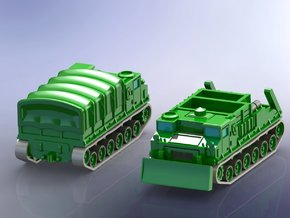 US M8 High Speed Tractor1/285 in Smooth Fine Detail Plastic